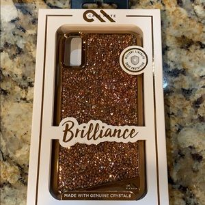 Casemate iphone X XS Rose Gold Case Crystals New